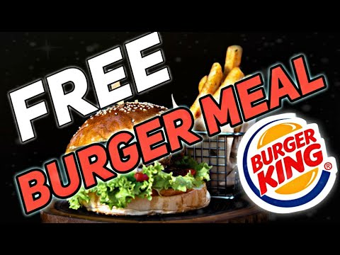 Free burger king promo codes | Free burger king meal coupon !