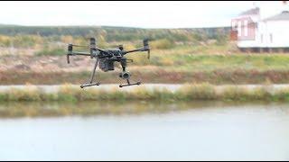 Испытания дронов-водолазов в пруду / Новости