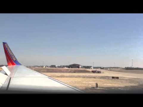 First Southwest Air Flight into Branson Airport