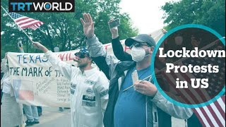Protests in US cities against Covid-19 lockdowns