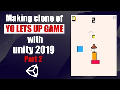 Intro To Unity3D - Beginners Tutorial - Clone of YO LETS UP Game - Part 2 thumbnail