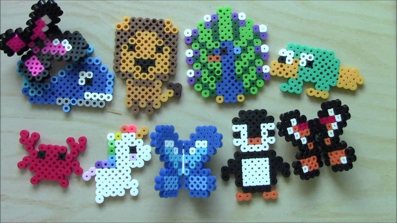 Easy Perler Bead Animal Keychains and Magnets #2