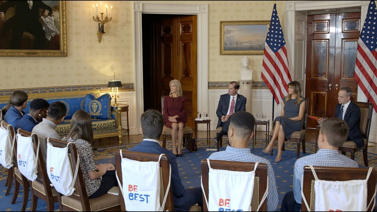 The White House First Lady Hosts Listening Session with Students from the Truth Initiative