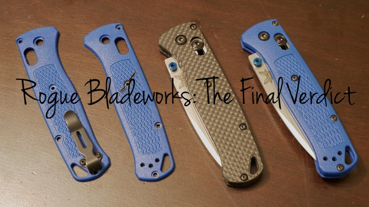 Rogue Bladeworks: A Complicated Transaction   Benchmade Bugout Scales