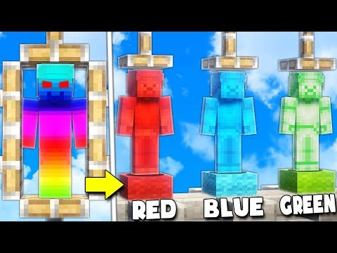 SEPERATING REVERSE STEVE INTO GREEN RED AND BLUE STEVE!