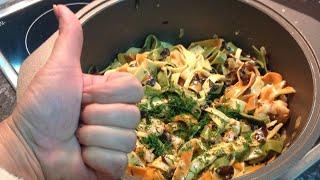 Вкуснятина с креветками в сливочном соусе и древесными грибами.Как приготовить .Рецепт от Эллы