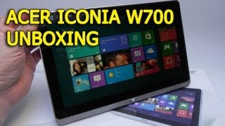 Acer Iconia W700 Unboxing (Windows 8 Pro Intel Core i5 Tablet) - Tablet-News.com