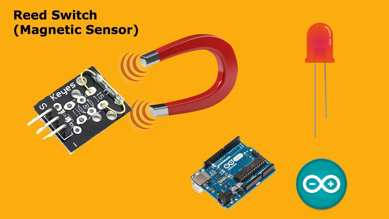 Arduino Reed Switch Magnet Sensor With Led Youtube Magnetic Relay