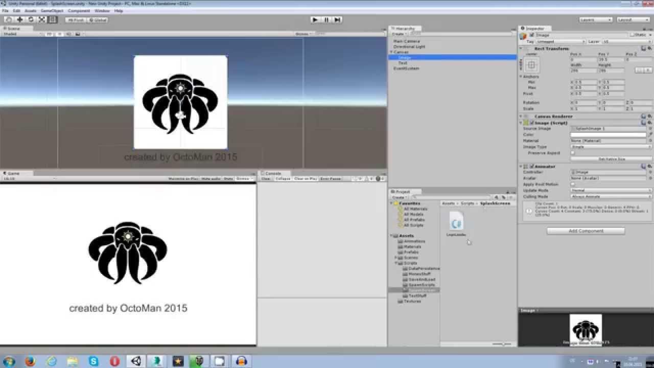 Unity 5 Tutorial: Logo / Splash Screen C#