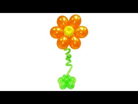 Большой цветок из воздушных шаров (гелий)