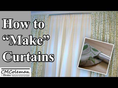 "How To ""Make"" Your Own No Sew Curtains"