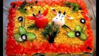 Идеи для украшения салатов!