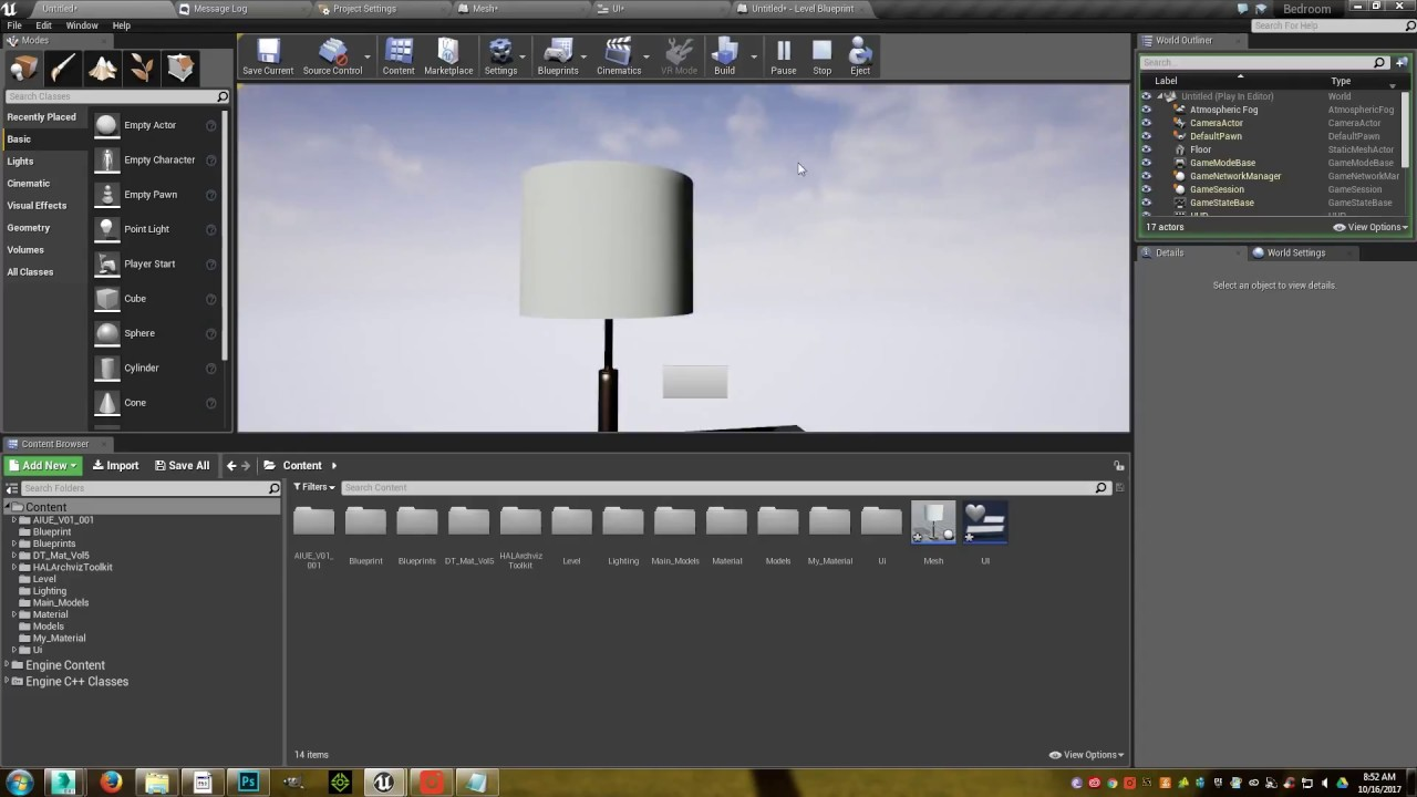 Tutorial unreal engine 4 change material on press button youtube tutorial unreal engine 4 change material on press button malvernweather Gallery