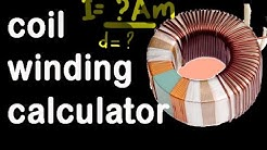 toroidal transformer design formula, coil winding calculator