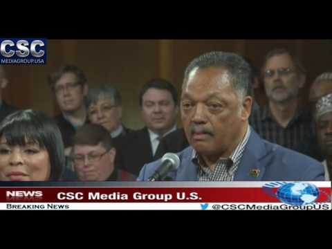 Rev Jesse Jackson Speaks At Portland Church Following Hate Fueled Incident