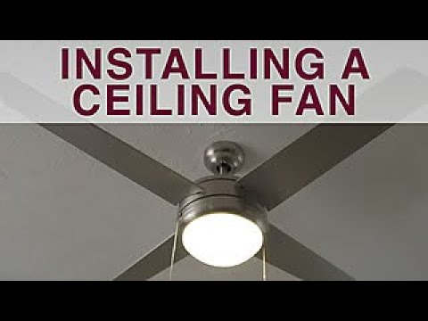 How to Install a Ceiling Fan - DIY Network - YouTube