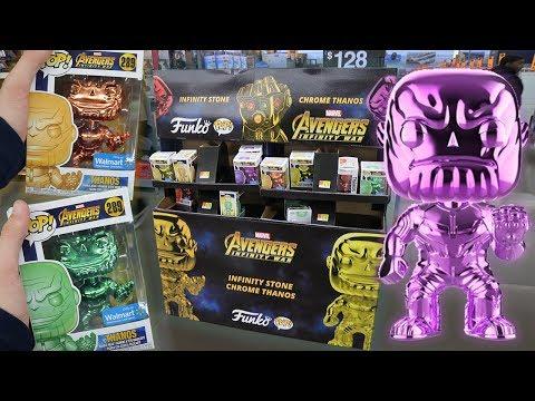 Chrome Thanos Walmart Funko Pop Section