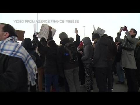 Activists protest Trump