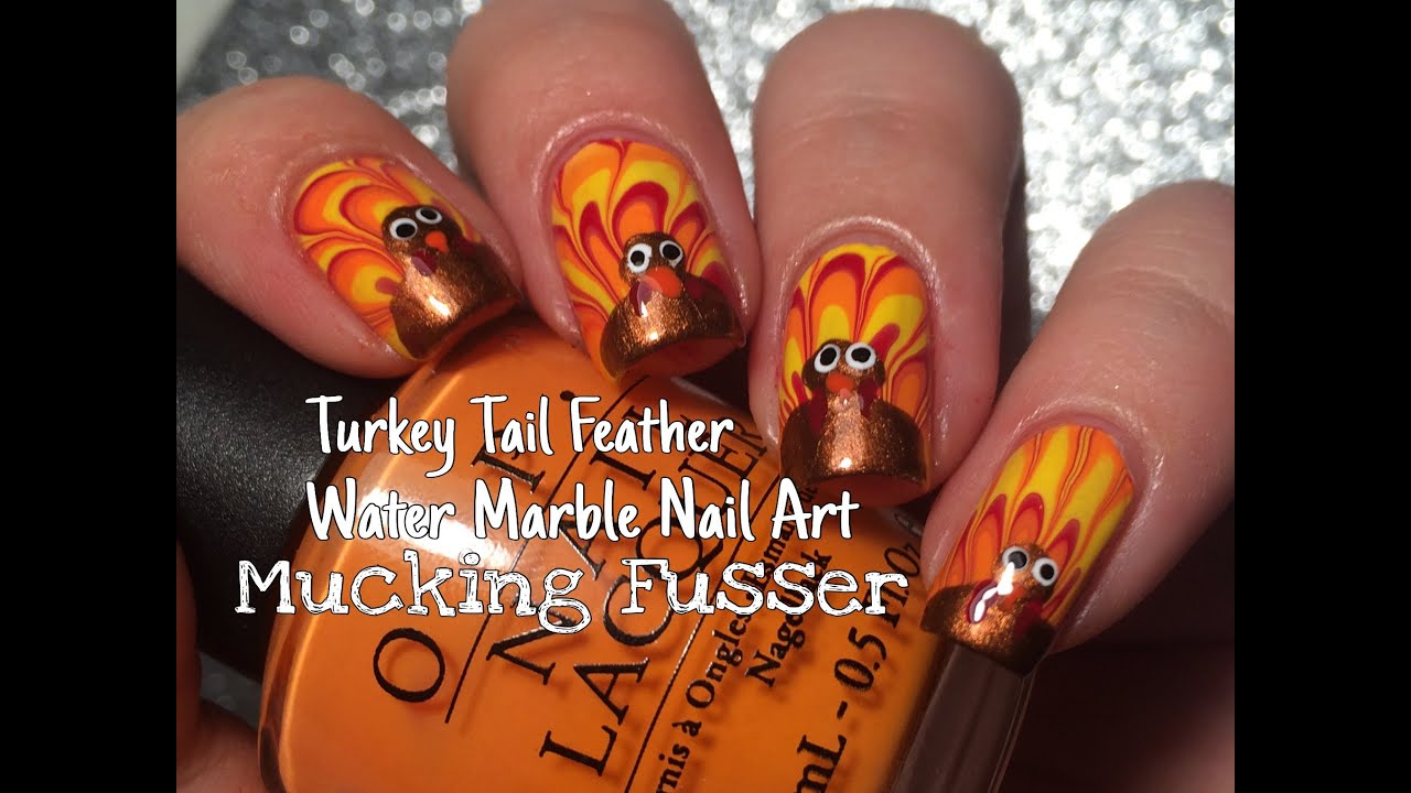 Thanksgiving Turkey Nail Designs