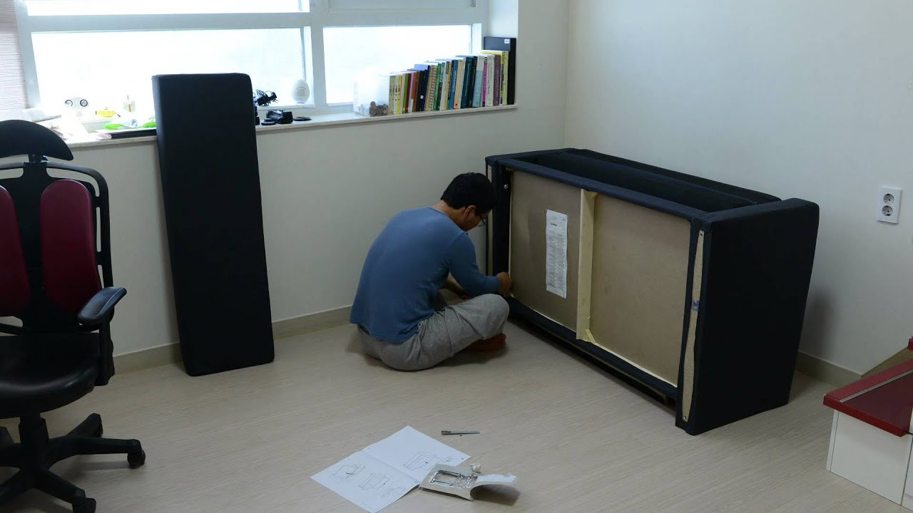 Assembling An IKEA Sofabed (SOLSTA)   YouTube