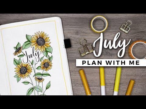PLAN WITH ME   July 2018 Bullet Journal Setup