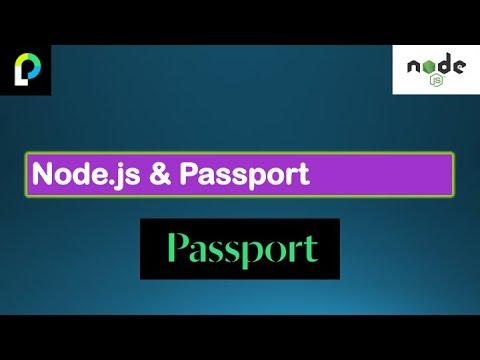 Node.js Tutorials #9-Node & Passport-Passport AuthenticationStrategy withExpress inNode.js