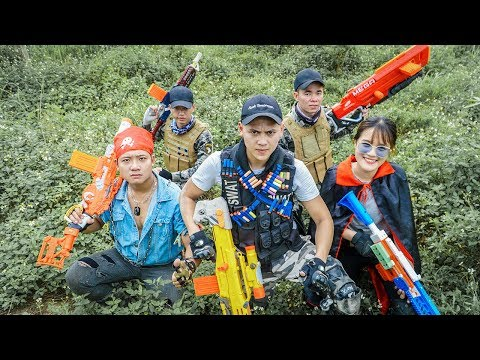 LTT Game Nerf War : Winter Warriors SEAL X Nerf Guns Fight Criminal Group  Boss One Eye