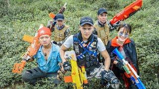 LTT Game Nerf War : Winter Warriors SEAL X Nerf Guns Fight Criminal Group  Boss One Eye