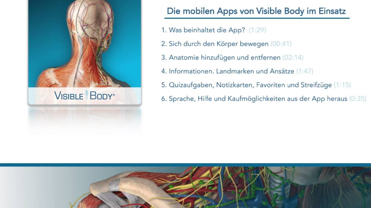 Die mobilen Apps von Visible Body im Einsatz - YouTube