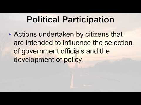 Political Participation Narrated PowerPoint