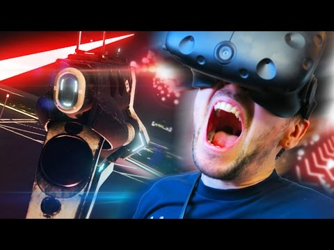FIRING MY LASER BEAM   Space Pirate Trainer (HTC Vive Virtual Reality)