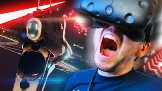 FIRING MY LASER BEAM | Space Pirate Trainer (HTC Vive Virtual Reality)