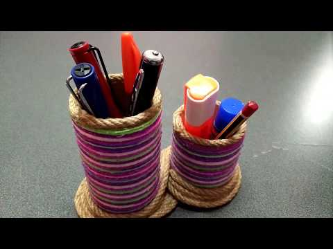 Pen Holder | recycle paper rolls | diy