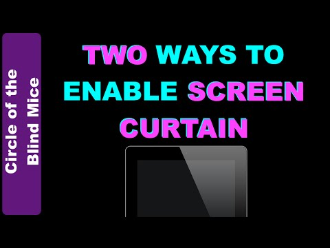TWO Ways to Enable Screen Curtain in iOS / Low Vision Assistive Tech Tips