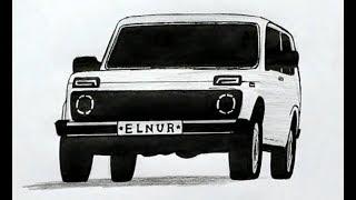 🚗Как нарисовать машину Ниву Легко и быстро(Ehedov Elnur)How to Draw a Car Easy Step by Step