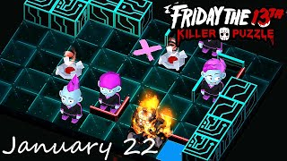 Friday the 13th Killer Puzzle Daily Death January 22 2021 Walkthrough