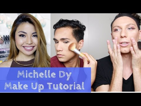 WE TRIED FOLLOWING A MICHELLE DY MAKE UP TUTORIAL