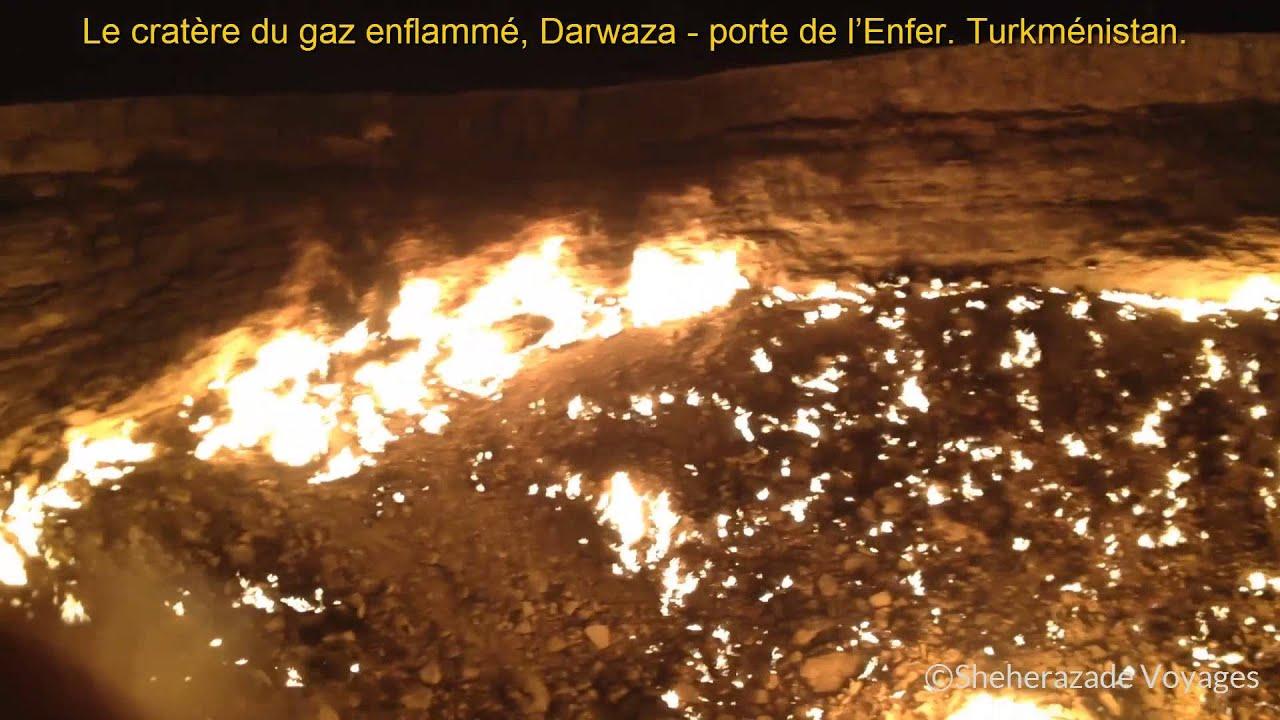 La porte de l 39 enfer darwaza turkmenistan youtube - Turkmenistan porte de l enfer ...