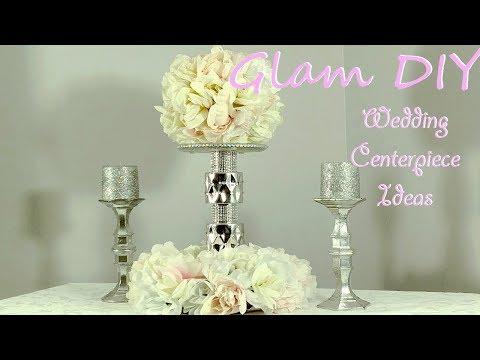 Dollar Tree DIY Glam Wedding Centerpiece Bling Decor Ideas