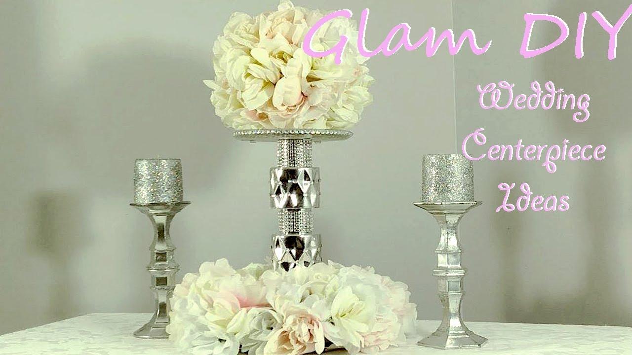Dollar Tree DIY Glam Wedding Centerpiece Bling Decor Ideas ...