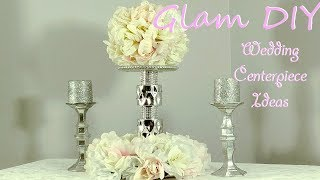 Dollar Tree DIY Glam Wedding Centerpiece Bling Decor Ideas