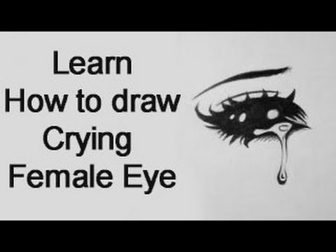 How To Draw A Crying Female Manga Eye Real Time Youtube