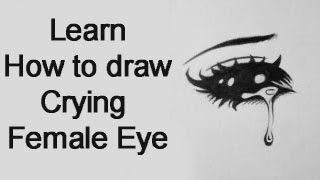 How to draw a Crying Female Manga Eye (Real Time)
