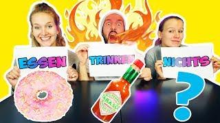 ESSEN, TRINKEN, NICHTS Challenge! Mega Scharfe Tabasco Sauce zum Trinken! Kaan VS. Nina VS. Kathi