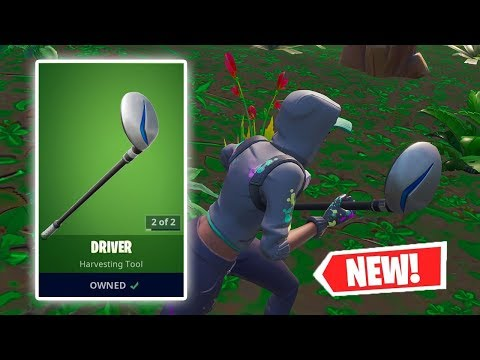 NEW DRIVER Pickaxe Gameplay in Fortnite!
