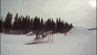 экстрим на снегоходе видео