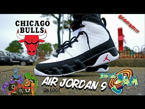 wholesale dealer 16903 4e5a5 2016 Air Jordan 9 ( O.G   Chicago   Space Jam ) On Foot Review - YouTube