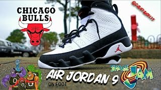 2016 Air Jordan 9 ( O.G / Chicago / Space Jam ) On Foot Review