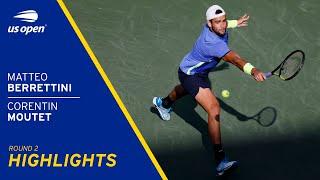 Matteo Berrettini vs Corentin Moutet Highlights | 2021 US Open Round 2