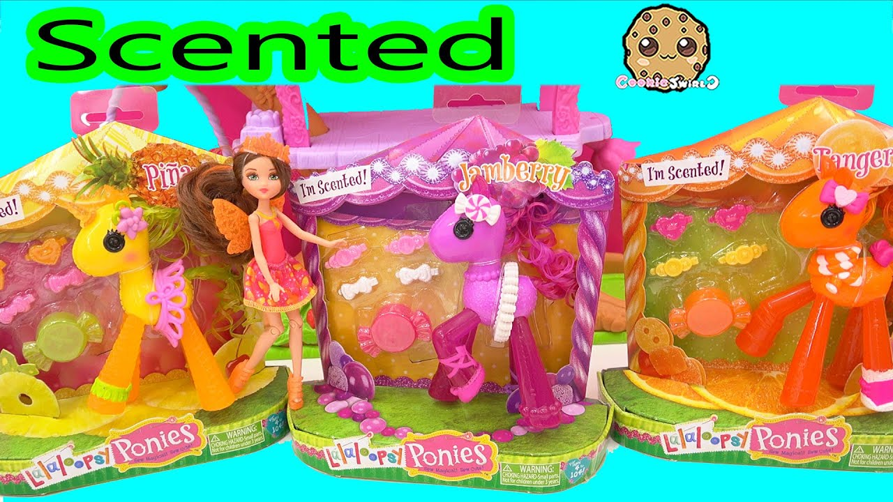 Fruit Scented Lalaloopsy Ponies Toys Review Along With Mini Fairy Barbie  Doll   Cookieswirlc Video   YouTube